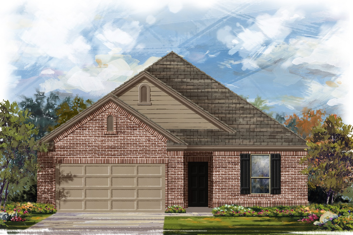 New Homes in Belton, TX - West Canyon Trails Plan 1675 Elevation B