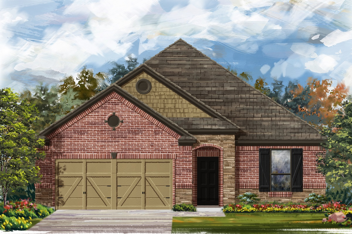 New Homes in Belton, TX - West Canyon Trails Plan 1675 Elevation C