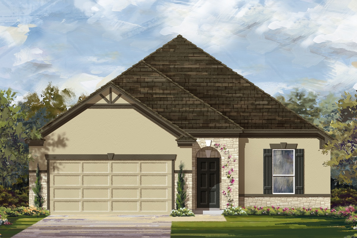 New Homes in Belton, TX - West Canyon Trails Plan 1675 Elevation D