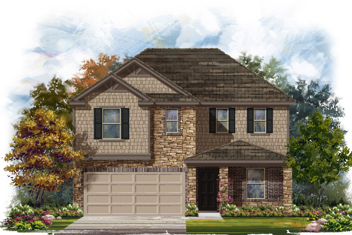 New Homes in Belton, TX - West Canyon Trails Plan 2403 Elevation J