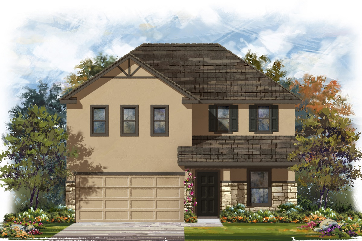 New Homes in Belton, TX - West Canyon Trails Plan 2403 Elevation K