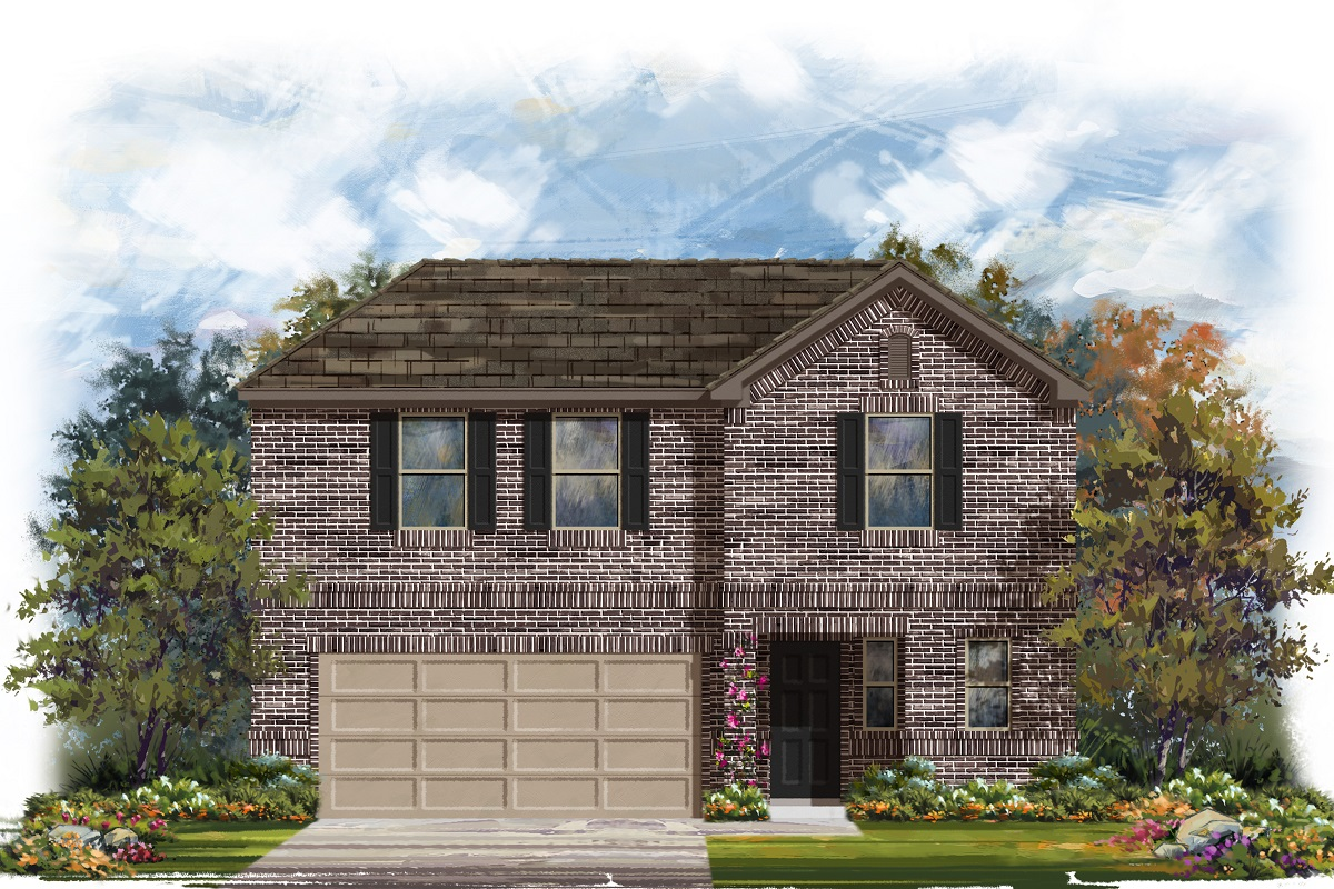 New Homes in Belton, TX - West Canyon Trails Plan 2412 Elevation H