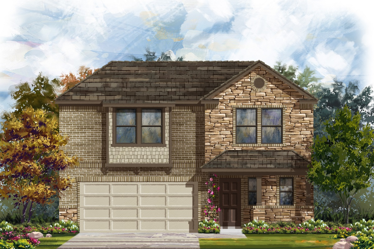 New Homes in Belton, TX - West Canyon Trails Plan 2412 Elevation J