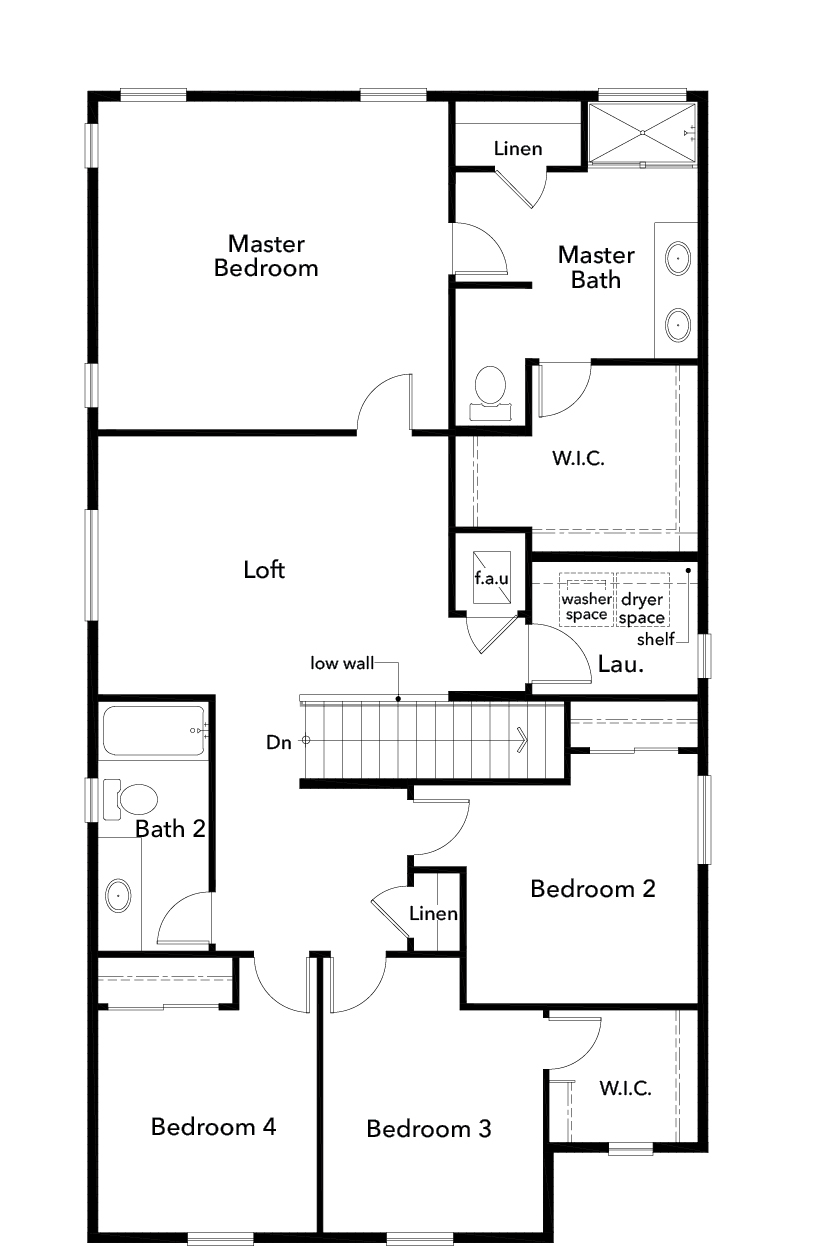 New Homes in Covington, WA - Plan 2328, Second Floor