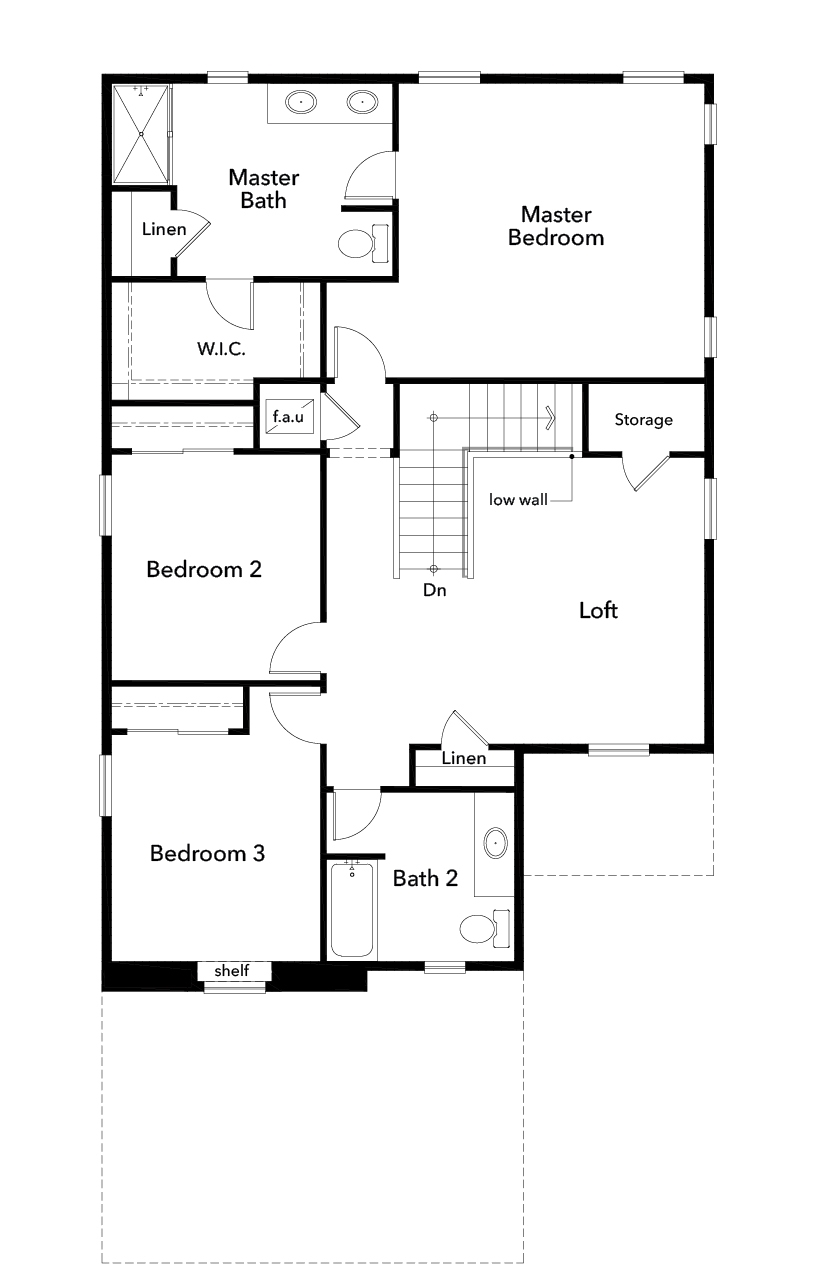New Homes in Lacey, WA - Plan 2265, Second Floor