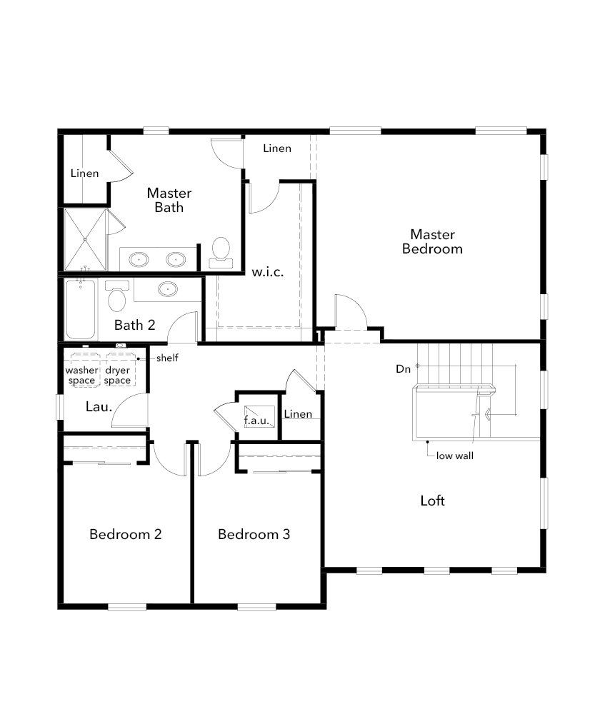 New Homes in Bonney Lake, WA - Plan 2189, Second Floor
