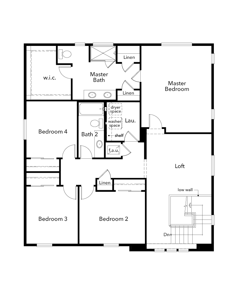 New Homes in Bonney Lake, WA - Plan 2564, Second Floor