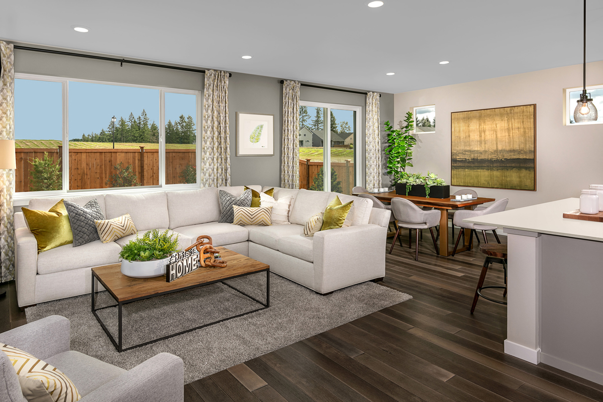 New Homes in Spanaway, WA - Cascade Vista Plan 1629 Great Room