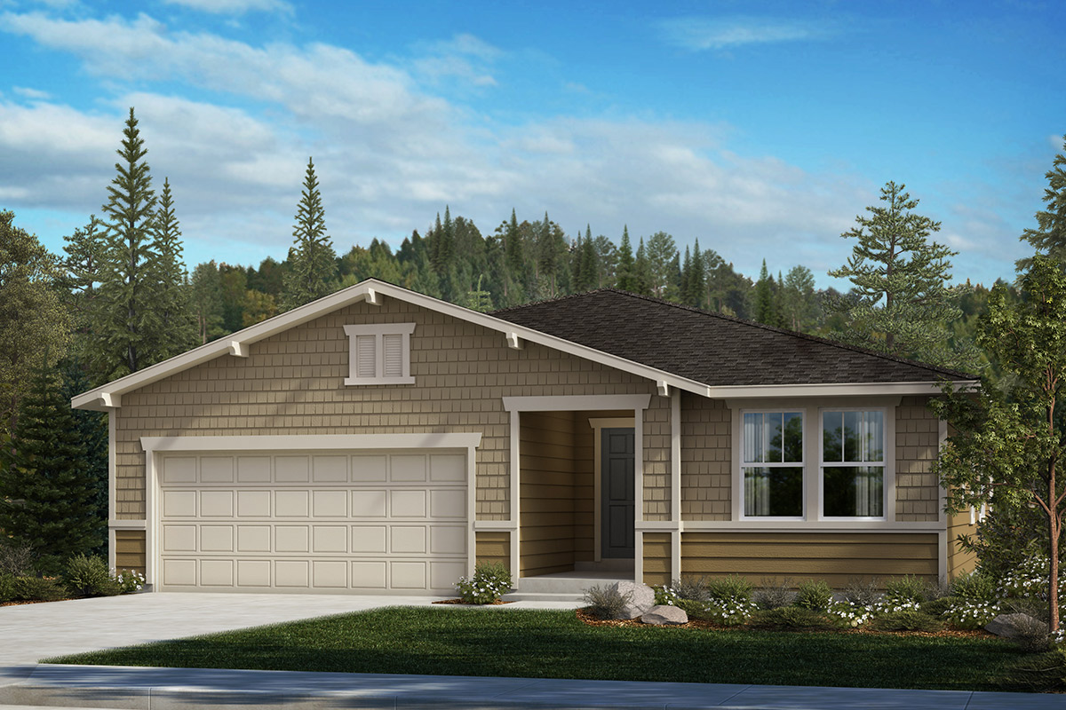 New Homes in Bonney Lake, WA - Falling Water Plan 1989 Elevation B