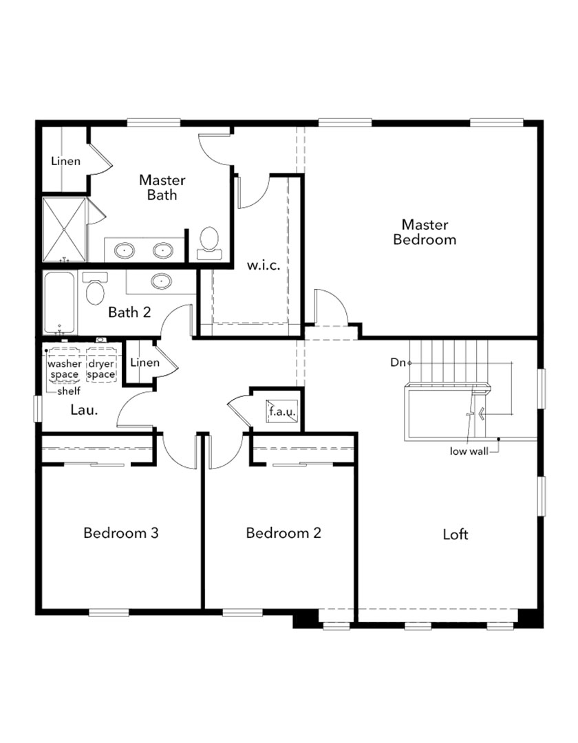 New Homes in Bonney Lake, WA - Plan 2345 Modeled, Second Floor