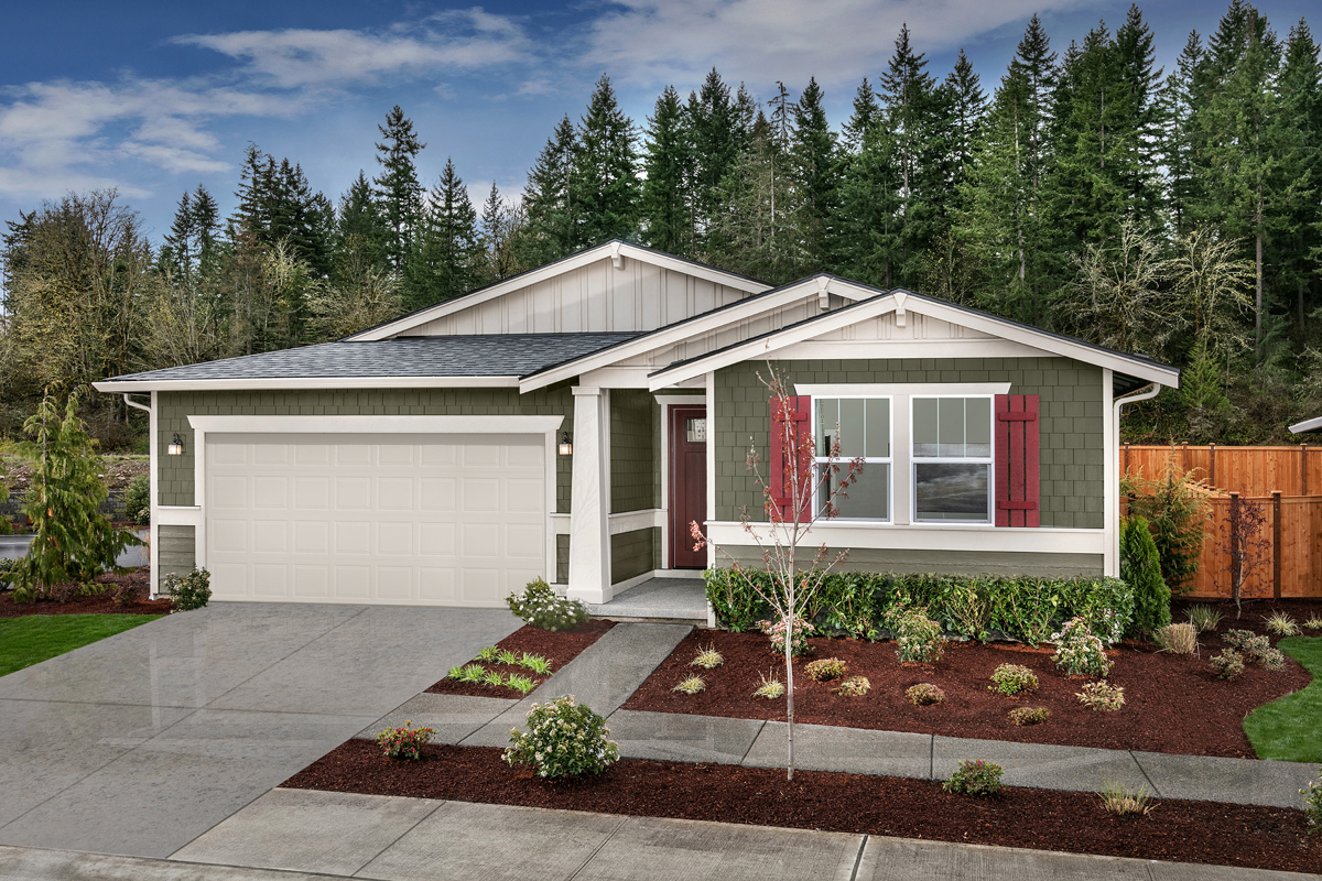 New Homes in Bonney Lake, WA - Falling Water Plan 1857 Elevation B