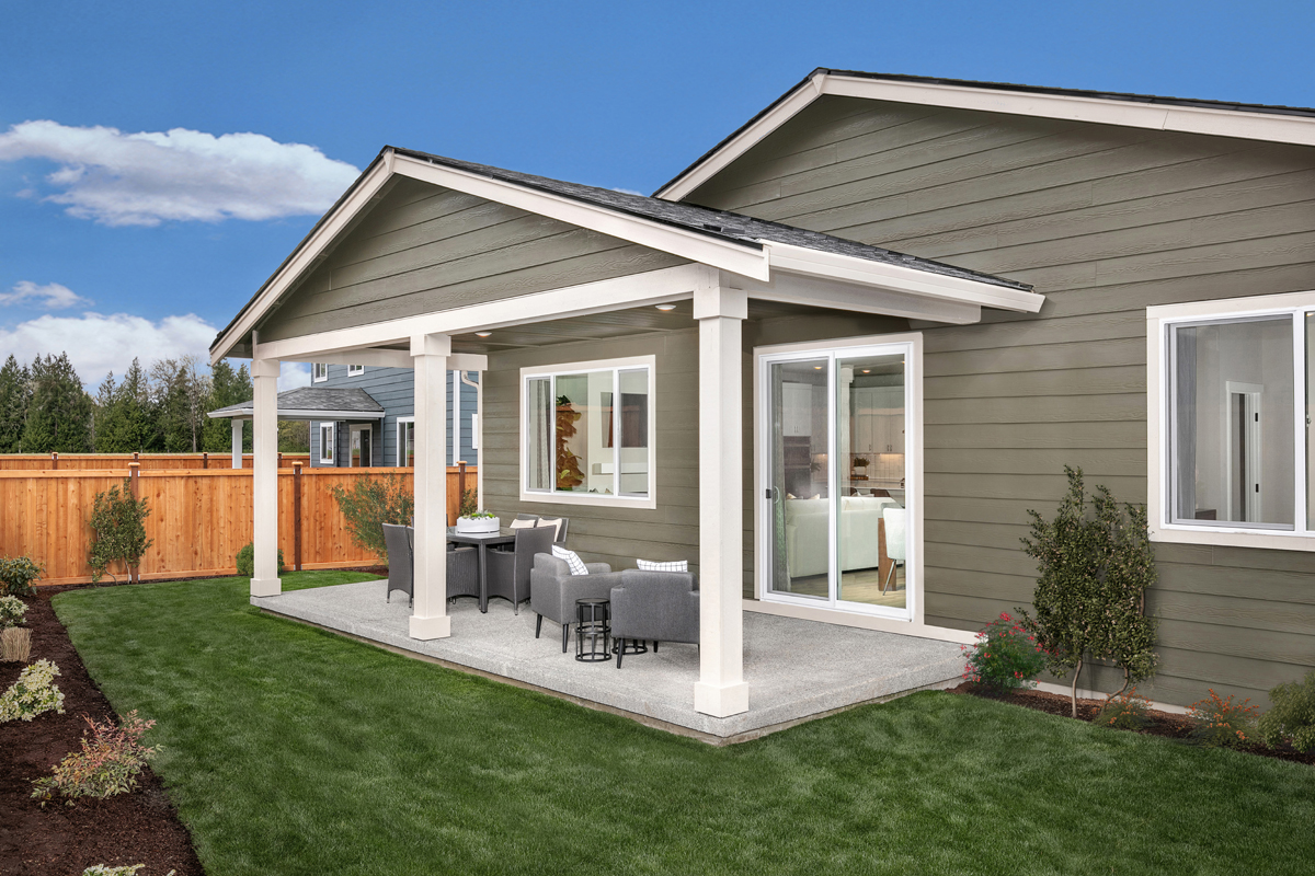 New Homes in Bonney Lake, WA - Falling Water Plan 1857 Patio