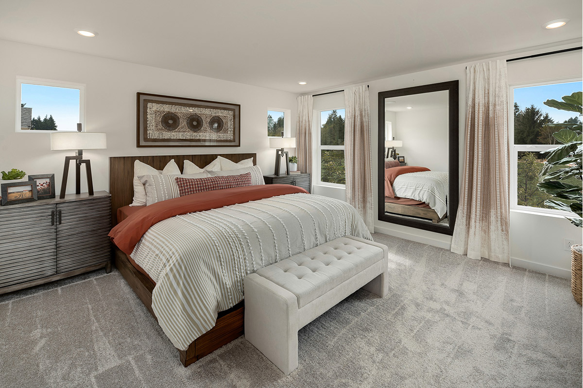 New Homes in Lacey, WA - Woodland Creek Plan 2265 Master Bedroom as modeled at Little Soos Creek