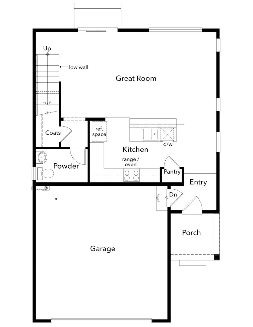 New Homes in Kent, WA - Plan 1565, First Floor
