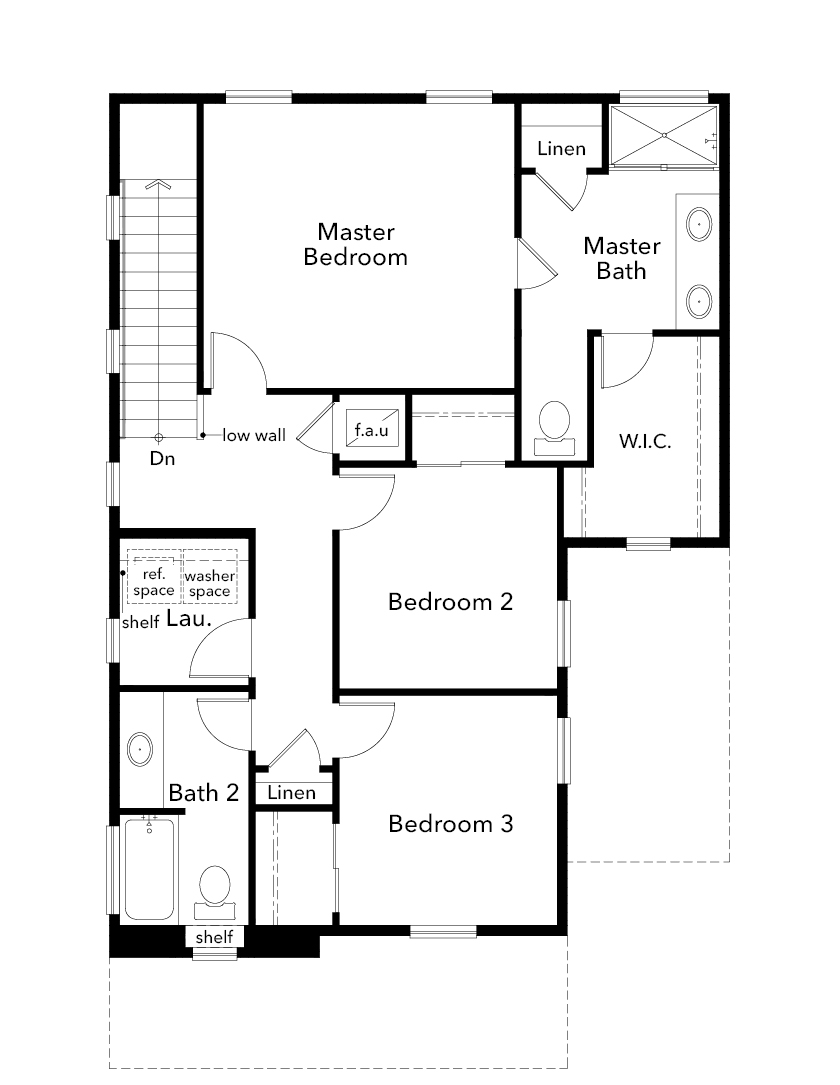 New Homes in Kent, WA - Plan 1565, Second Floor