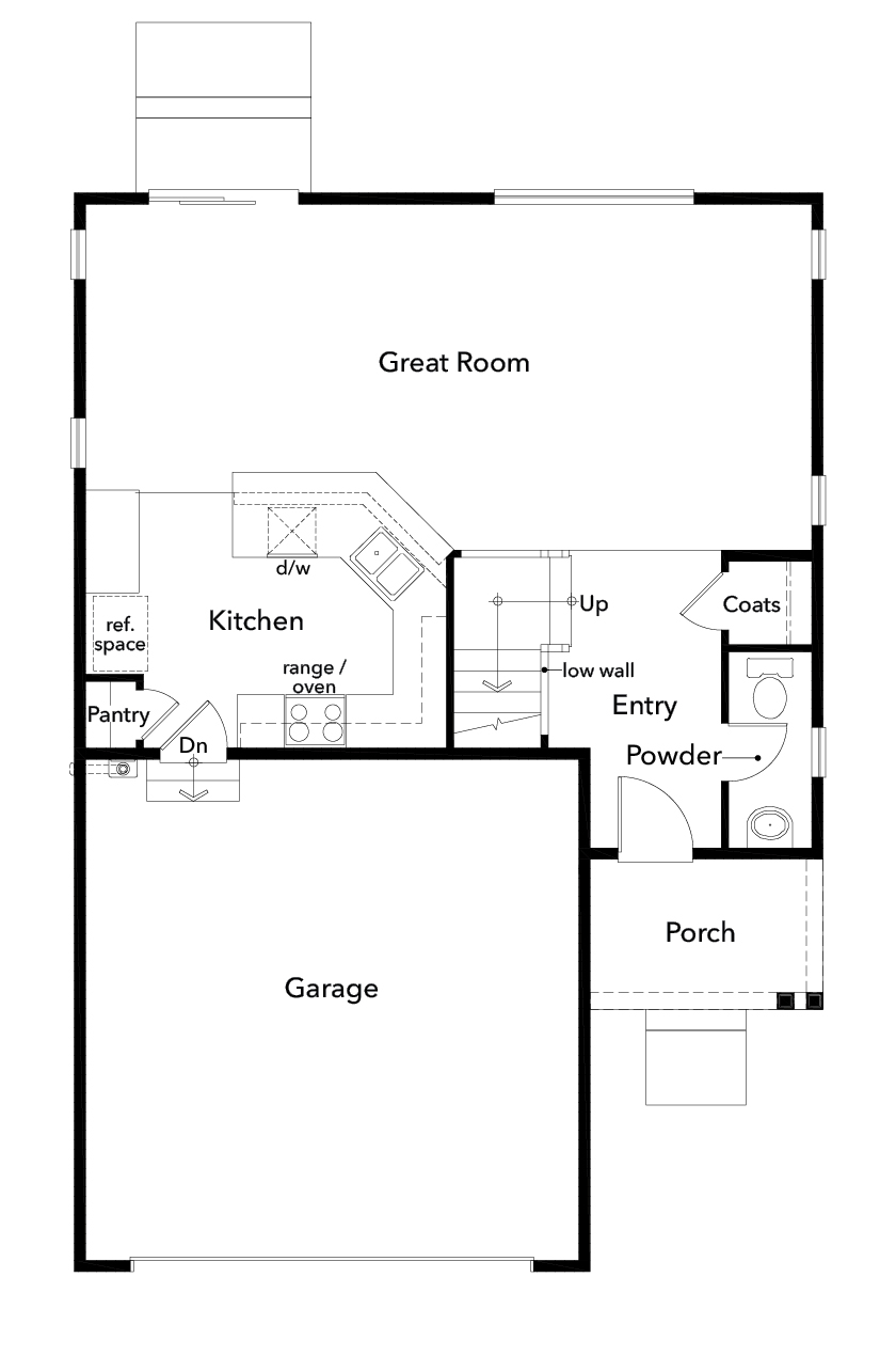 New Homes in Spanaway, WA - Plan 1867, First Floor