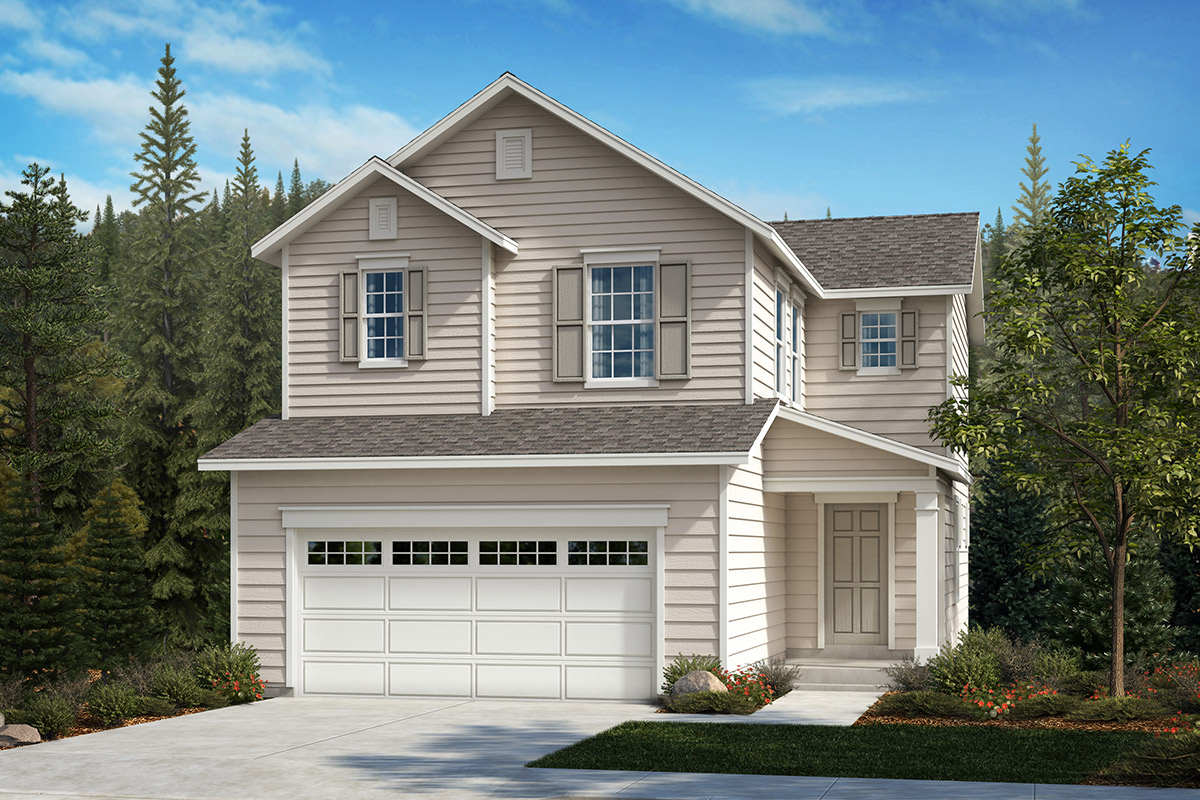 New Homes in Kent, WA - Ridgecrest Plan 1565 - Elevation A