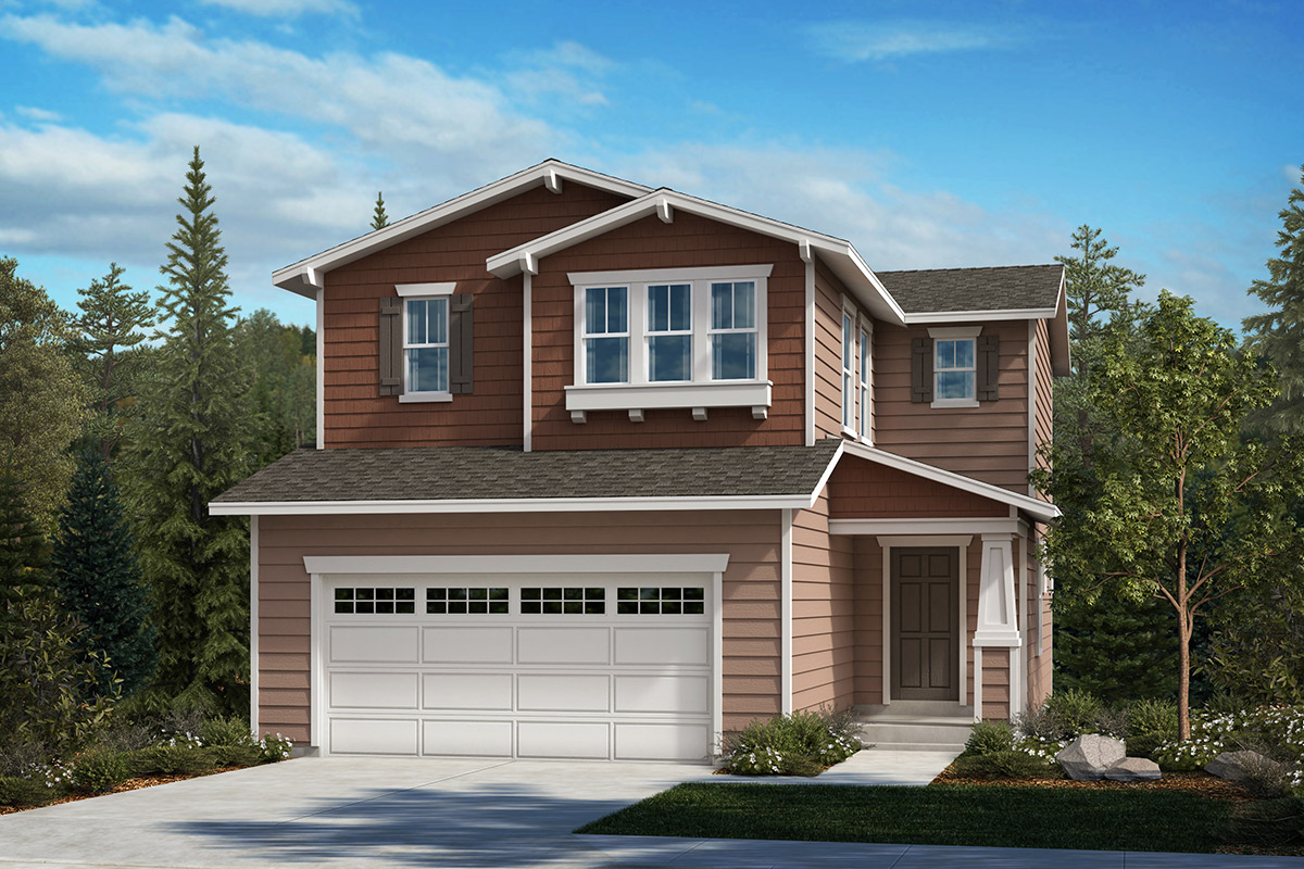 New Homes in Kent, WA - Ridgecrest Plan 1565 - Elevation B