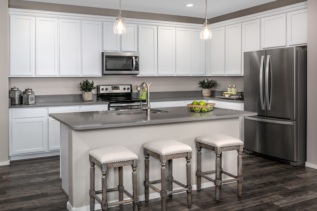 KB model home kitchen in Goodyear, AZ