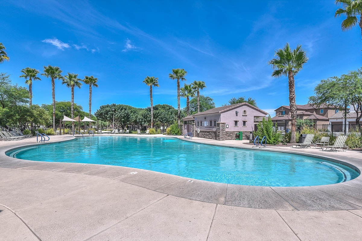 Amenity pool at a KB Home community in Surprise, AZ