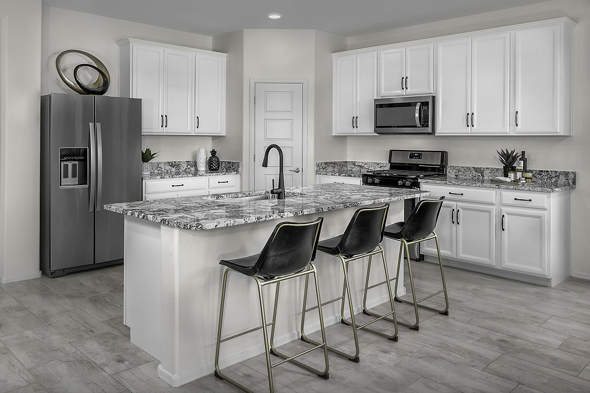 KB model home kitchen in Surprise, AZ