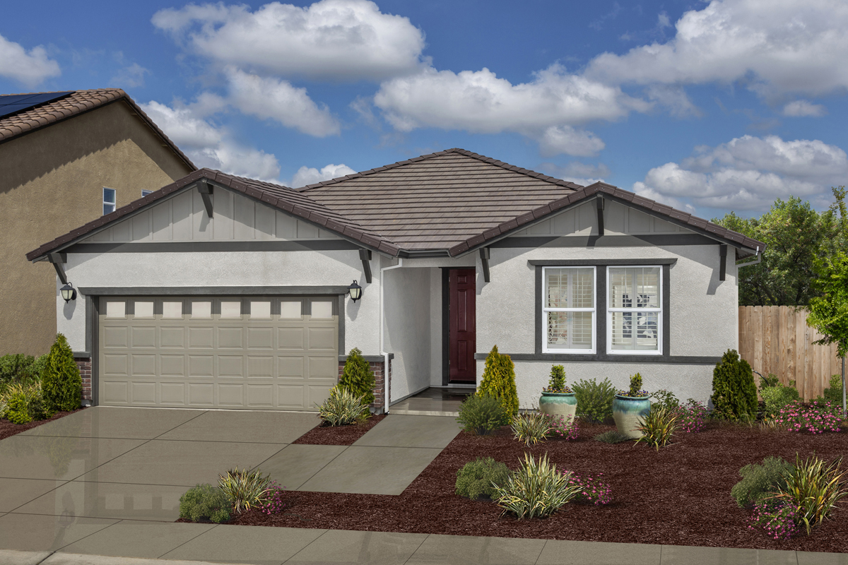KB model home in Manteca, CA