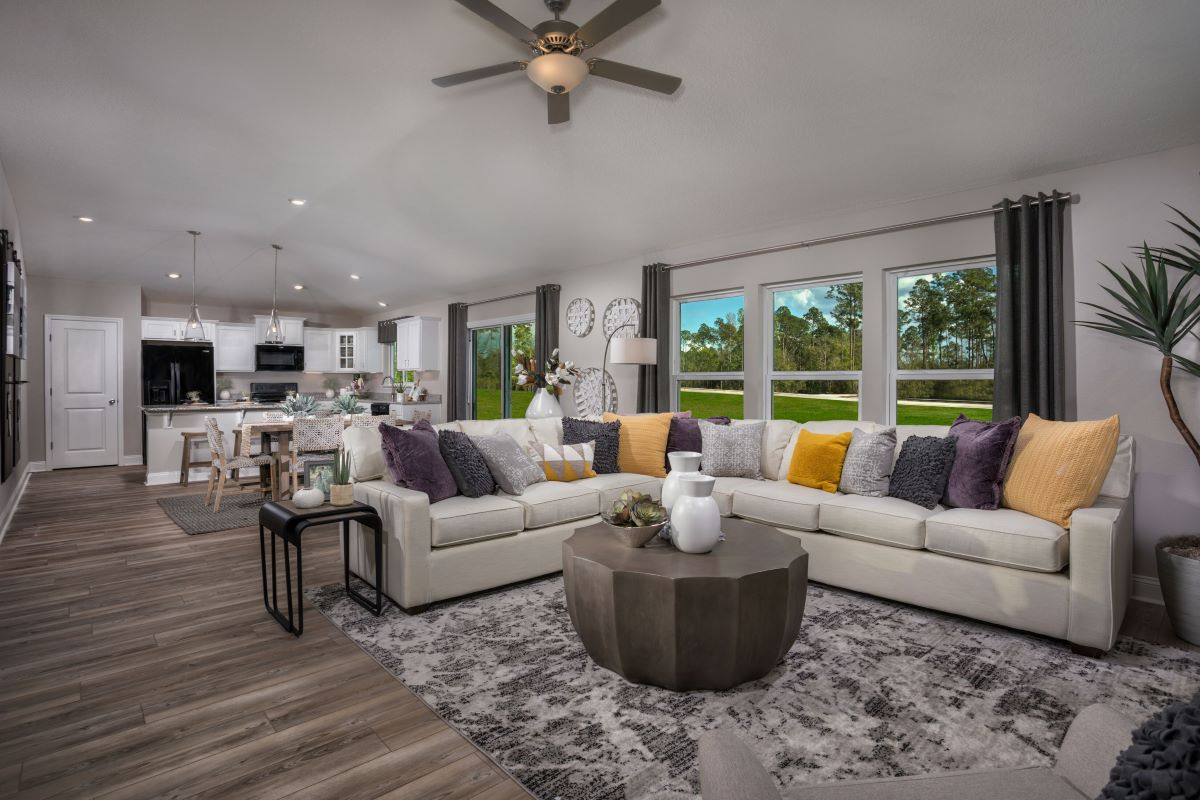 KB model home great room in Green Cove Springs, FL