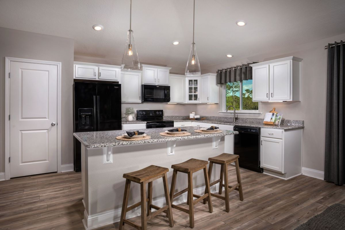 KB model home kitchen in Green Cove Springs, FL