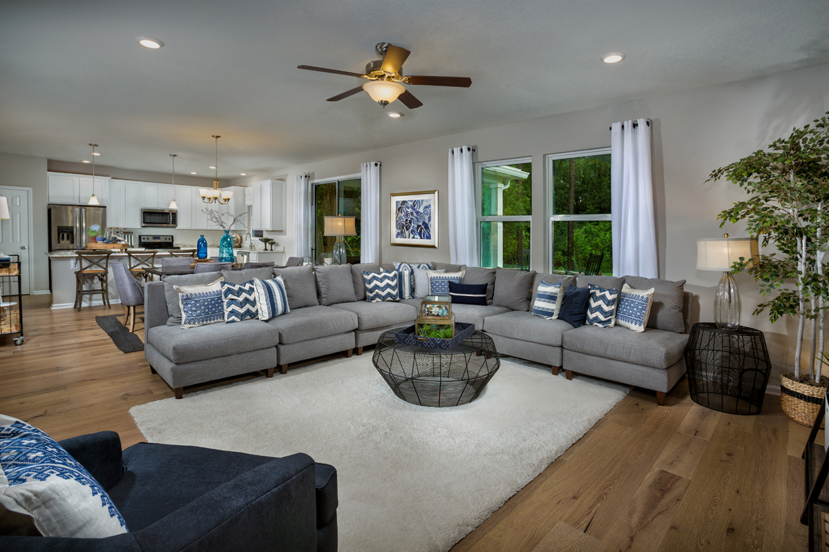 KB model home great room in Jacksonville, FL