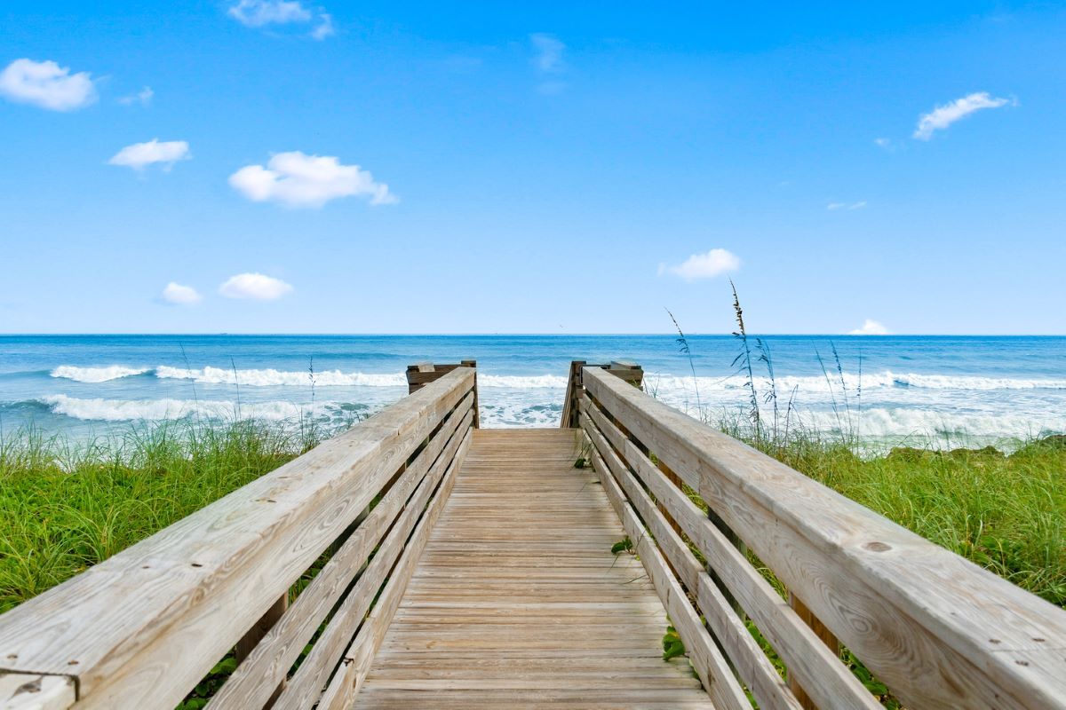 Beach access in Palm Coast, FL