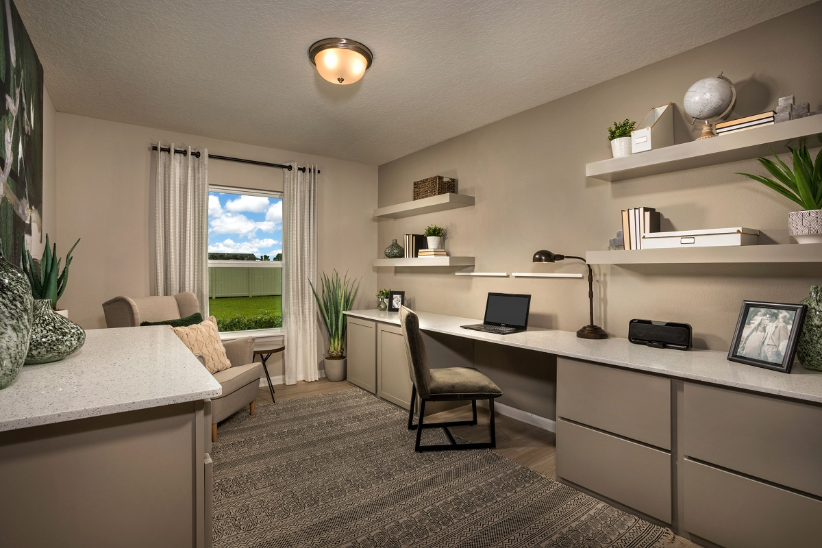 KB model home office in Palm Coast, FL