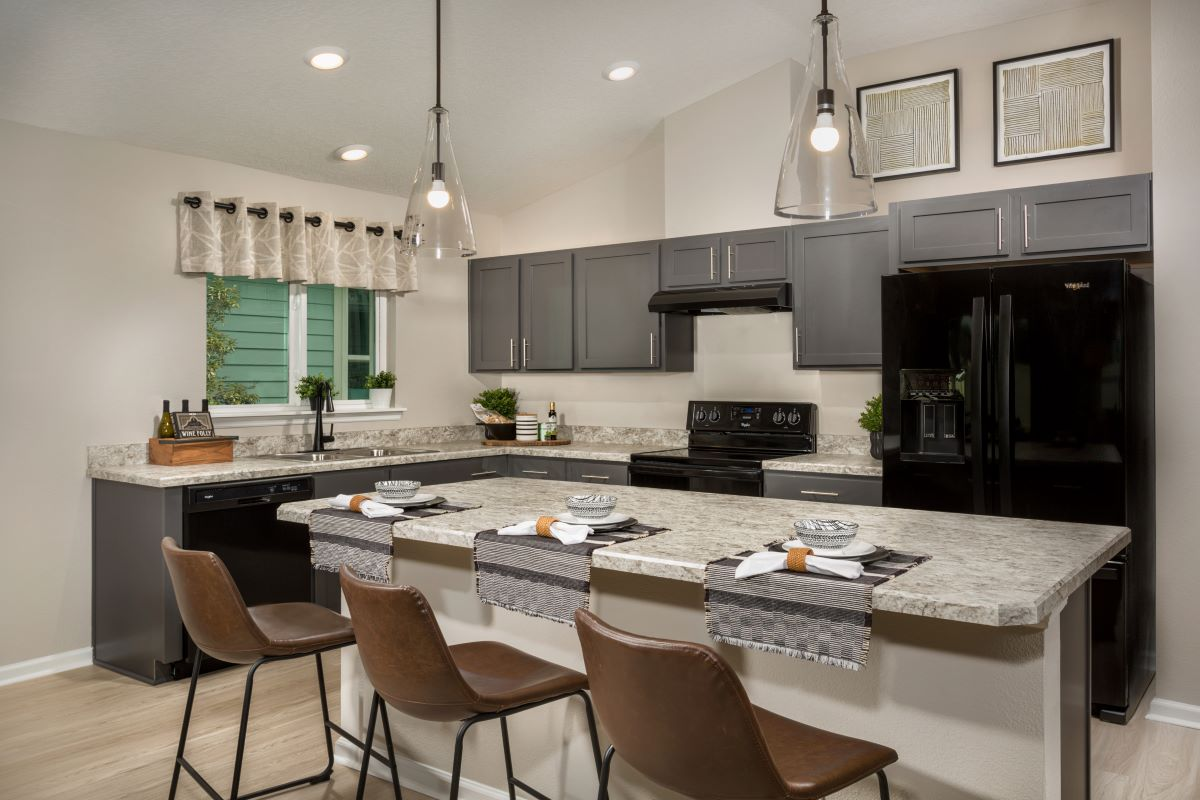KB model home kitchen in Palm Coast, FL