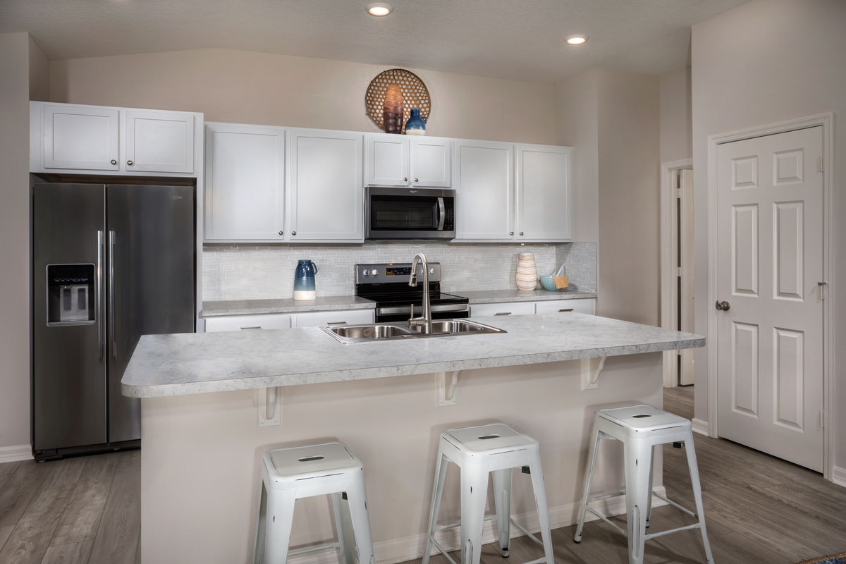 KB model home kitchen in Sanford, FL