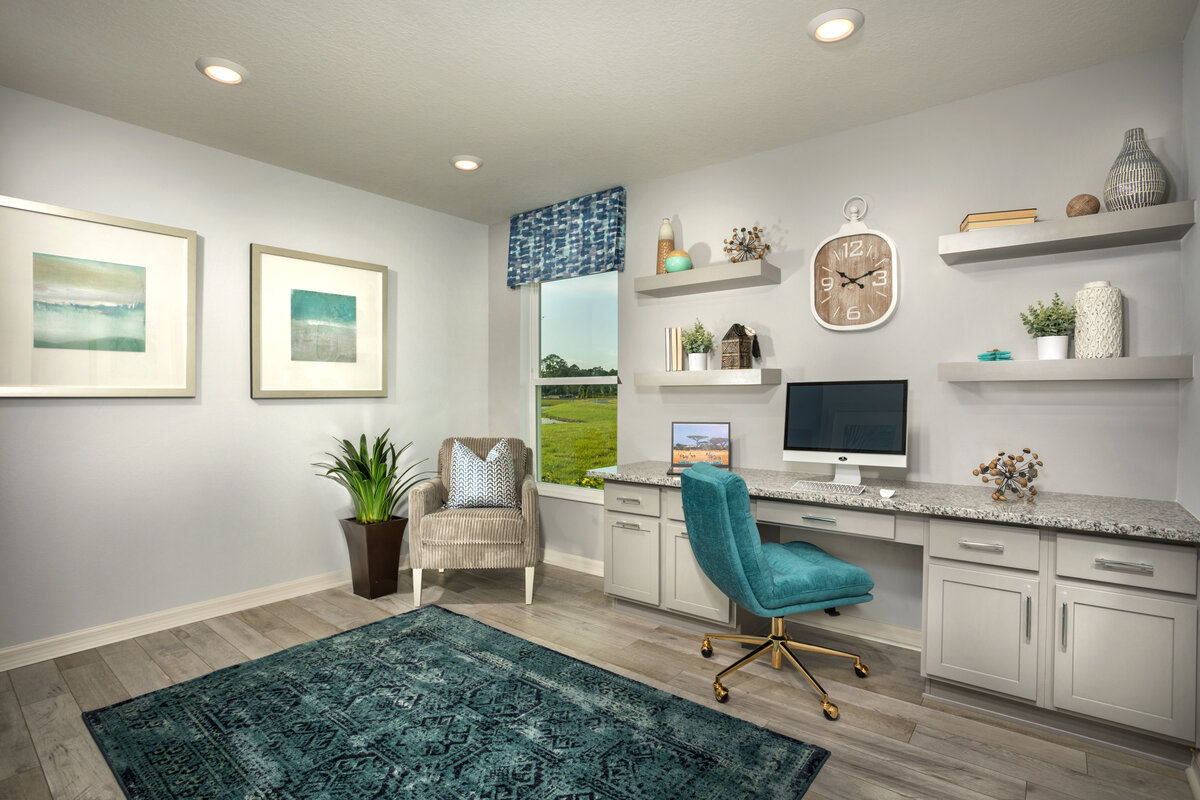 KB model home office in Titusville, FL
