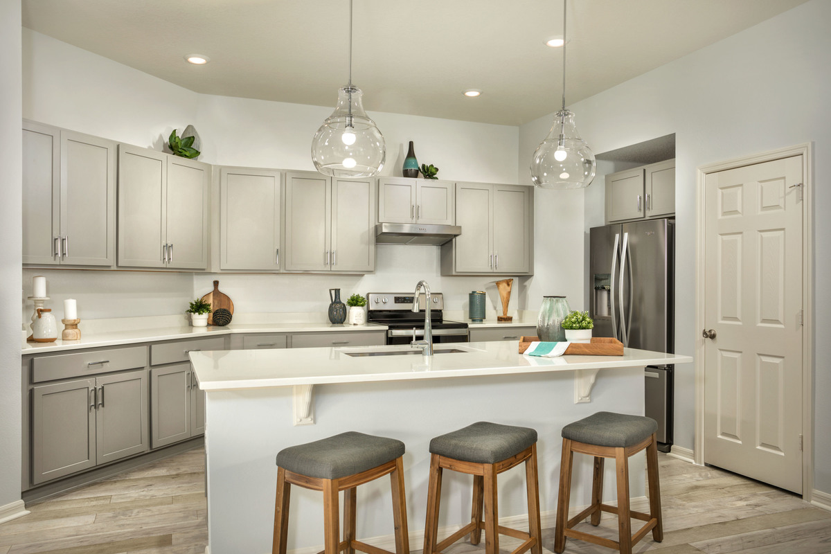 KB model home kitchen in Titusville, FL