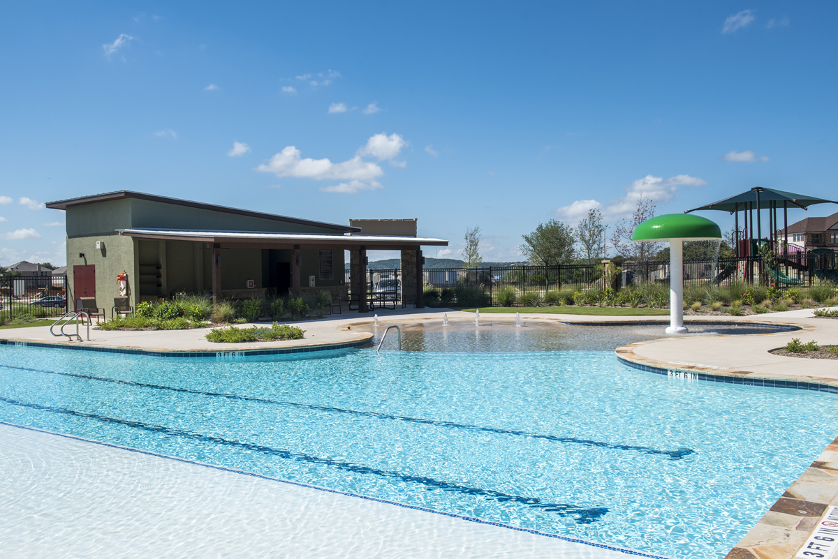 Amenity pool at a KB Home community in Boerne, TX