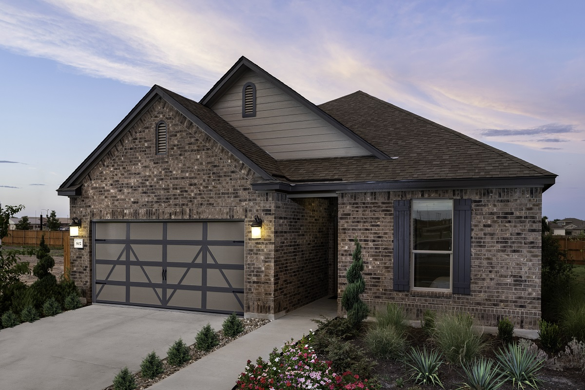 KB model home in Lockhart, TX